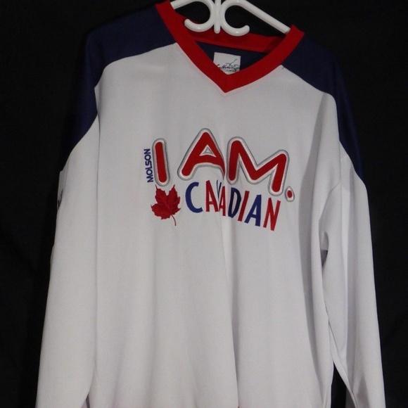 Molson Canadian I Am Canadian Hockey Jersey, mint